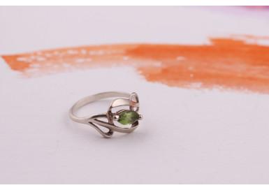 Кольцо Зеленое зернышко