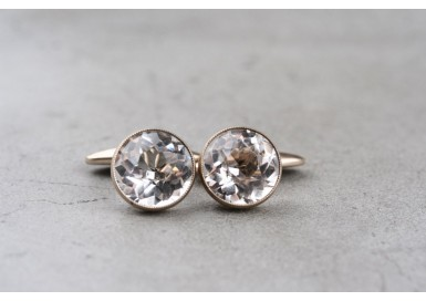 Cufflinks with rock crystal