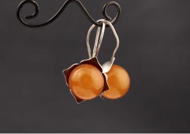 Серьги Спелые персики