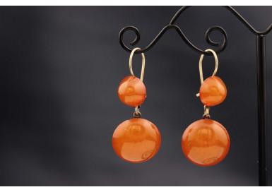 Серьги Спелые абрикосы