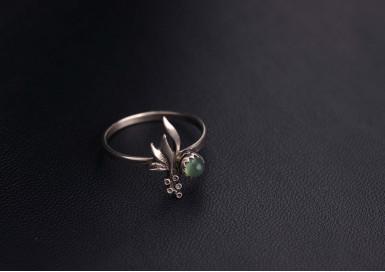 Кольцо Зеленый горошек